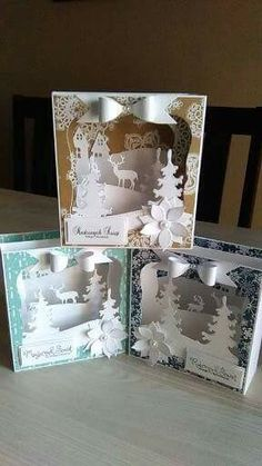 Account Suspended - Christmas cards Scrapbooking layouts and yummy treats. Pop Up Christmas Cards, Christmas Card Crafts, Xmas Cards, 3d Cards, Pop Up Cards, Stampin Up Cards, Up Book, Shaped Cards, Winter Cards