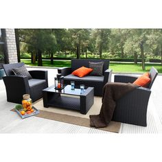 Found it at Wayfair - 4 Piece Dining Set with Cushions
