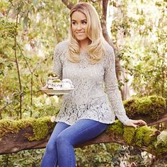 LC Lace Peplum Top 🍁 So cute! Worn once around the holidays. Enjoy! LC Lauren Conrad Tops