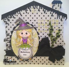 Coral the witch, Halloween Wishes sentiment  from www.digitaldelightsbyloubyloo.com
