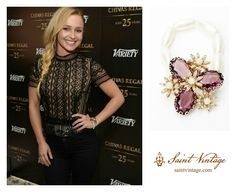 Stand out from the crowd like actress, Hayden Panettiere did this past weekend with a Saint Vintage Love Cures Bracelet! Like it? Share it! Shop it TODAY ---> http://www.saintvintage.com/category_s/62.htm