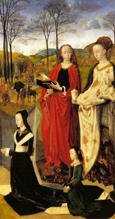 Hugo van der Goes, 1476-79  Web Gallery of Art  Detail from the Portinari Triptych