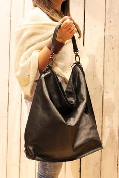 Bag Handmade Total Tote Italian Leather Allegra Vintage Black fFqt1fdw