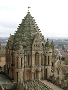 Torre del Gallo at the Old Cathedral (Catedral Vieja), in the Romanesque style in Salamanca, Spain.
