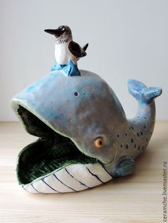 Wonderful ceramic figurine Ceramic Clay, Ceramic Pottery, Pottery Art, Slab Pottery, Ceramic Bowls, Polymer Clay Animals, Ceramic Animals, Animal Sculptures, Sculpture Art