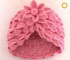 Baby Crochet Patterns A new way to cut crochet cap Crochet cap flower Crochet Baby Bonnet, Crochet Beret, Crochet Cap, Crochet Slippers, Irish Crochet, Coat Patterns, Baby Knitting Patterns, Crochet Patterns, Crochet Ideas