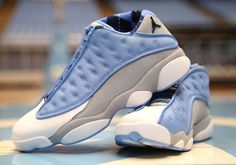 aabf7885c6e839 The Tar Heels get another PE just in time for March Madness with this Air  Jordan 13 Low UNC PE featuring Carolina Blue mesh and more.