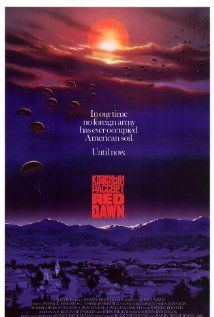 Red Dawn - the original with Patrick Swayze, Charlie Sheen, Jennifer Grey, C Thomas Howel, Patrick Swayze, Charlie Sheen, 80s Movies, Good Movies, July Movies, Throwback Movies, Childhood Movies, Awesome Movies, Drama Movies
