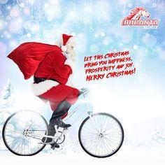 বড়দিনে সান্তা আসুক অনেক উপহার এবং খুশির বার্তা নিয়ে। উৎসব আনন্দে মুখর সময় কাটুক পরিবার-পরিজনের সাথে। #DurantaBicycle #www.bicyclehobbies.com  #bikeaccessories  #cycleisfun  #cycleforlife