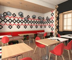 Profile Tradiționale Românești MARAMA Conference Room, Restaurant, Interior, Table, House, Furniture, Design, Home Decor, Embroidery