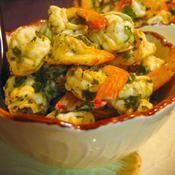 Tapas de gambas marin�es aux herbes - une recette Entre amis - Cuisine