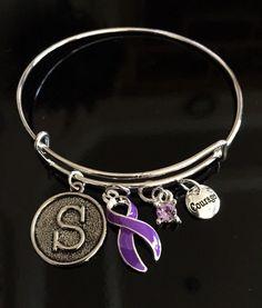 Ribbon Bracelets Jewelry Cystic Fibrosis Religious Tolerance Swarovski Rett Syndrome Sterling Silver Wire Chiari Malformation