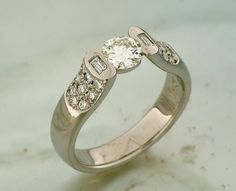 Made this ring in platinum, a new begining for @kathkozel using her diamonds