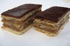 A zserbó titka, amit sok háziasszony nem ismer! Hungarian Desserts, Hungarian Recipes, Zserbo Recipe, My Recipes, Dessert Recipes, Delicious Desserts, Yummy Food, Baking And Pastry, Cookie Desserts