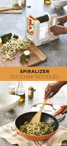 Zoodles are all the rage because zucchini noodles are a super-healthy substitute for pasta in all your favorite recipes (and it's a great way to sneak tons of veggies into your kids' meals! Once you start spiralizing, you might not be able to stop. Keto Crockpot Recipes, Low Carb Recipes, Healthy Recipes, Healthy Food, Cooking Recipes, Easy Cooking, Cooking Light, Lunch Recipes, Healthy Meals