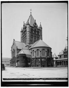 Trinity Church in Copley Square. Boston, MA 1900