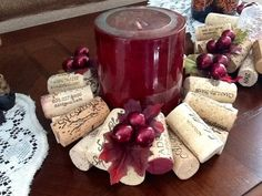 Wine cork candle rings. Fall and Grape by CrazieLadyCraftique, $10.00