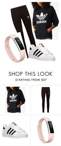 """""""ADIDAS IS LIFE"""" by claudia1256 on Polyvore featuring adidas, adidas Originals and Fitbit"""