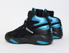 #Reebok #Shaq Attaq OG Black Azure Retro #Sneakers