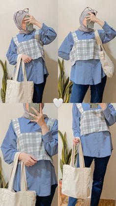 Casual Hijab Outfit, Casual Outfits, Ootd, Korean Outfits, Hijab Fashion, Ruffle Blouse, Fashion Design, Cloths, Shopping