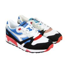 Diadora N9000 Nyl French Blue White Mens Athletic Running Shoes