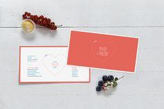 Faire-part de mariage (wedding card) : Love and cut ! - by Marion Bizet pour www.Rosemood.fr #mariage #wedding #fairepart
