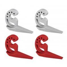 WENKO Türstopper und Fensterstopper Multi-STOP®, 4er Set, Grau und Rot