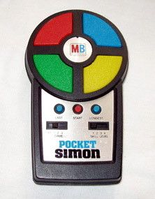 jeu musical SIMON pocket de chez MB