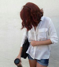 #me #white #redhair #shorthair #hair