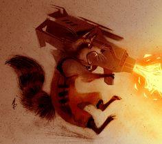 Rocket Raccoon by Meg Park