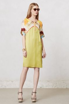 #SoftenedAnglesTunicDress #Anthropologie - It's all one piece, but the top part would be a nice shape for a shrug.