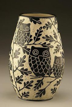 owl sgraffito (image only)