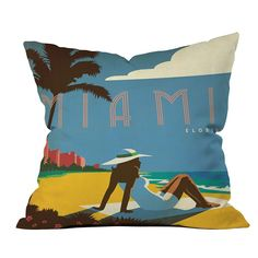 DENY Designs Anderson Design Group Miami Throw Pillow | Pure Home