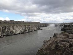 Selfoss Waterfall (upstream from Dettifoss waterfall) - Husavik, Iceland