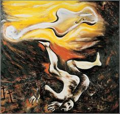 Enzo Cucchi Musica Ebbra, 1982 x 200 x 22 cm) oil, mixed media and metal collage on canvas. Collage, Italian Painters, Color Harmony, Art Database, Psychedelic Art, Minimalist Art, Art History, Modern Art, Canon