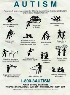 Autism Repinned by: Educational Pros and Consultants www.educationalprosandconsultants.com Like Us on Facebook: https://www.facebook.com/EducationalProsAndConsultantsLLC