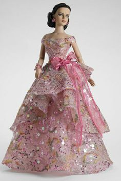 fashion doll, pink dress