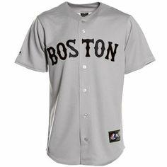 Majestic Boston Red Sox Gray Replica Baseball Jersey