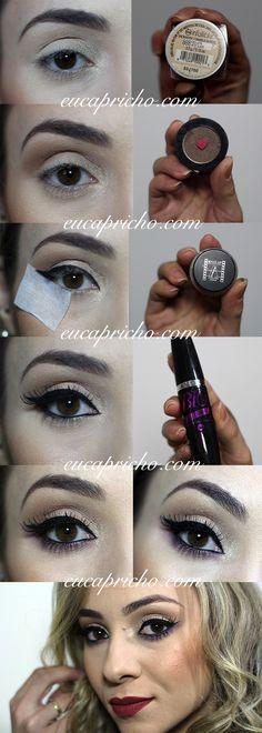Passo a passo de maquiagem! Tutorial outono inverno colorido! Post completo no link - http://www.eucapricho.com/2016/04/29/maquiagem-esfumado-colorido-para-o-outonoinverno/
