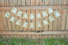 Burlap 'Seasons Greetings' Banner by TheRusticChicBtqe on Etsy