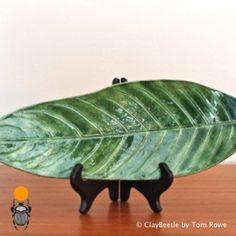 Large Green Ceramic Leaf