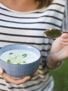 white gazpacho (lemon, almonds, cucumbers, grapes, sprouts, white pepper)