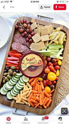 Simple Antipasto Hummus Platter - About A Mom Sometimes simple is best, especially when it turns out looking like you put a lot of time and effort into it. A simple antipasto hummus platter is perfect for a light meal or entertaining. Hummus Platter, Snack Platter, Party Food Platters, Crudite Platter Ideas, Antipasto Platter, Party Trays, Snack Trays, Meat Platter, Simple Cheese Platter