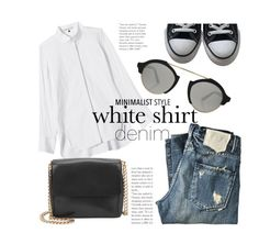 """""""White Shirt & Denim"""" by hattie4palmerstone ❤ liked on Polyvore featuring Rebecca Taylor, Converse, Gvyn, Illesteva and WardrobeStaples"""