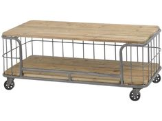 Factory Pine Industrial Coffee Table On Castors Coffee Table With Wheels, Oak Coffee Table, White And Brown Bedroom, Glass Shelving Unit, New England Furniture, Buffet Cabinet, Rustic Cabinets, Furniture Factory, Wholesale Furniture