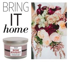 """Bring It Home: Rose Bouquet Candle with Metal Lid"" by polyvore-editorial ❤ liked on Polyvore featuring interior, interiors, interior design, home, home decor, interior decorating and bringithome"