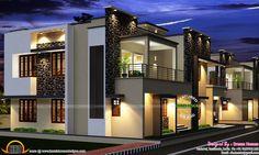Tamilnadu villa plan - Kerala home design and floor plans Free House Plans, House Plans One Story, Modern House Plans, Indian Home Design, Kerala House Design, Simple House Design, Modern House Design, Villa Plan, Long House