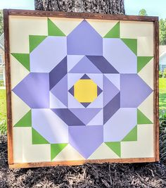 Handmade Barn Quilt 2' x 2' Golden Afternoon