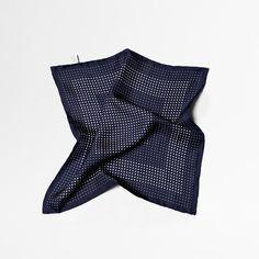 Abstract Polkadot Handkerchief – Navy | Esme Winter