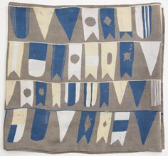 Grey Flag Print Silk Scarf by caitlinhinshelwood on Etsy